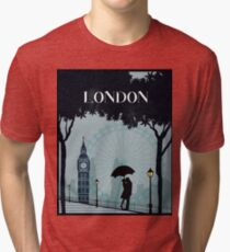 London vintage poster travel Tri-blend T-Shirt