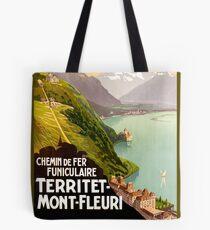 Mont Fleuri, Nice, vintage french poster Tote Bag