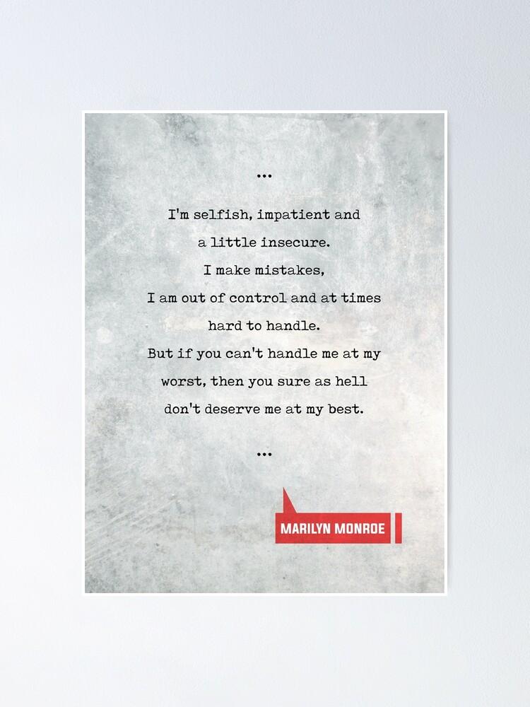 Marilyn Monroe Zitate Filmzitate Buch Liebhaber Geschenke Schreibmaschinen Zitate Poster