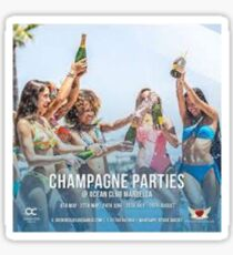 Champagne Party, Vintage Poster Sticker