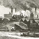 The Black Country, 19th century view of Oldbury, West Midlands, industrial revolution by artfromthepast