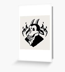 Hell Goat Greeting Card
