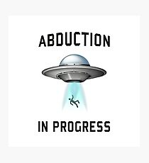 Abduction in Progress | UFO Art Photographic Print