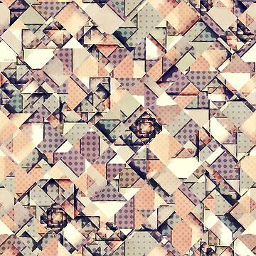 Abstract Checkered Polka Dots by perkinsdesigns