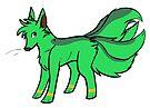 Green Kitsune (Tango) by C. Jade Wyton
