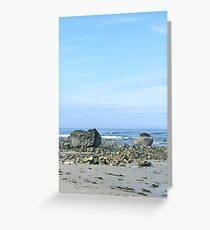 Cool Blues and Grays on a Rocky Coast Beach Greeting Card