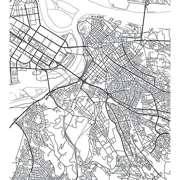 Vector poster city map Belgrade by maximgertsen