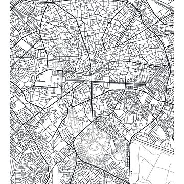 Vector poster city map Bucharest by maximgertsen
