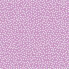 Cute Lavender and White Polka Dots by itsjensworld