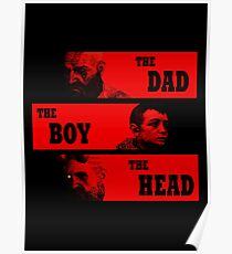 Dad, Boy and Head Poster