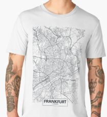 Vector poster city map Frankfurt Men's Premium T-Shirt