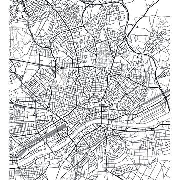 Vector poster city map Frankfurt by maximgertsen