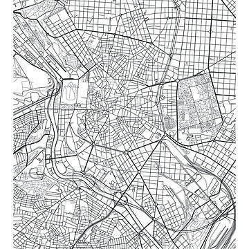 Vector poster city map Madrid by maximgertsen