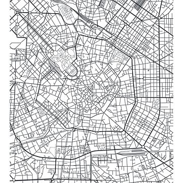 Vector poster city map Milan by maximgertsen