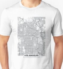 Vector poster map city Los Angeles Unisex T-Shirt