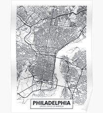 Vector poster map city Philadelphia Poster