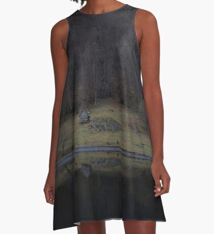 Violette Insel (Fjorde) A-Linien Kleid