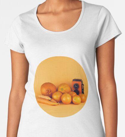 Stillleben der orange Karotten Frauen Premium T-Shirts