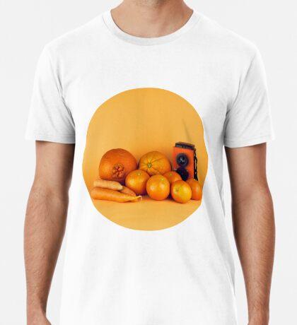 Stillleben der orange Karotten Premium T-Shirt