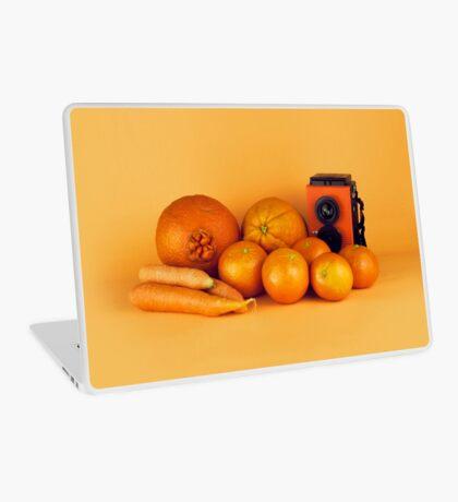 Stillleben der orange Karotten Laptop Folie