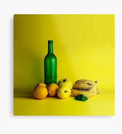 Zitronen-Limonenstillleben Metallbild