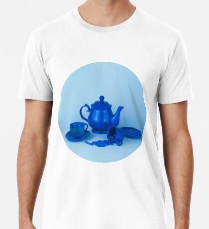 Blue Tea Party Wahnsinn Stillleben Premium T-Shirt
