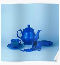Blue tea party madness still life Poster