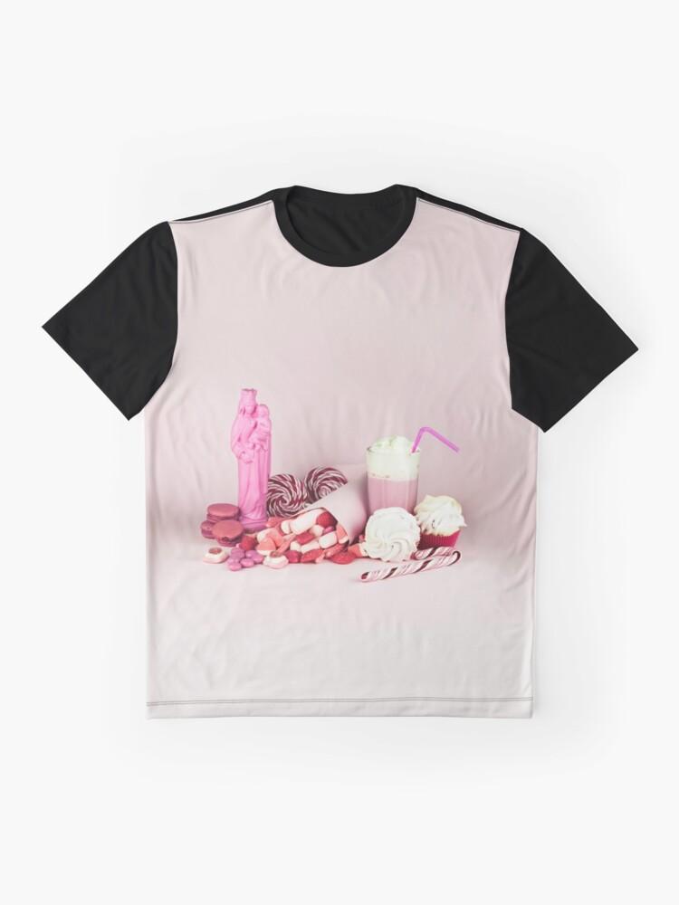 Alternative Ansicht von Süßes rosa Schicksalleben noch Grafik T-Shirt