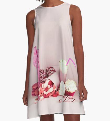 Süßes rosa Schicksalleben noch A-Linien Kleid