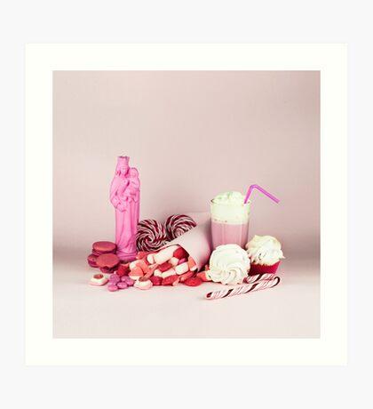 Süßes rosa Schicksalleben noch Kunstdruck