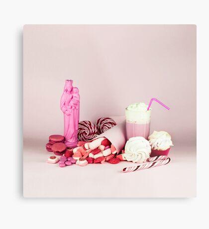 Süßes rosa Schicksalleben noch Metallbild