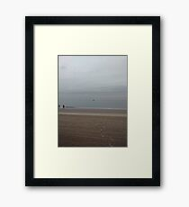 Beach swimming, #Beach #swimming, #BeachSwimming, New York City, Brooklyn, #NewYorkCity, #Brooklyn, Coney Island, #ConeyIsland Framed Print