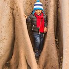 Kid in the tree Bark by Sunil Bhardwaj