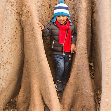 Kid in the tree Bark by sunilbhar