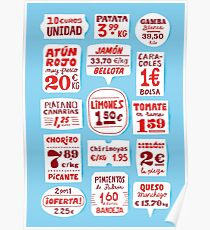 Spanish Market Lettering Poster