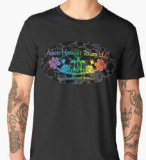 Apau Hawaii Tours' Logo On Lava Rocks Men's Premium T-Shirt