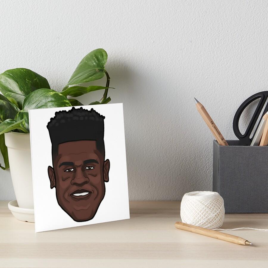 Mo Bamba Portrait Art Board Print