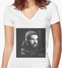 Drake Women's Fitted V-Neck T-Shirt