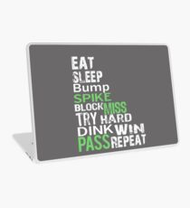 Funny Eat Sleep Volleyball Repeat Gift Laptop Skin