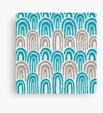 Water Rays (Aqua and Gray) Canvas Print