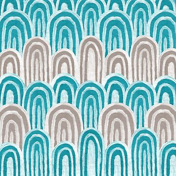 Water Rays (Aqua and Gray) by christinadesign