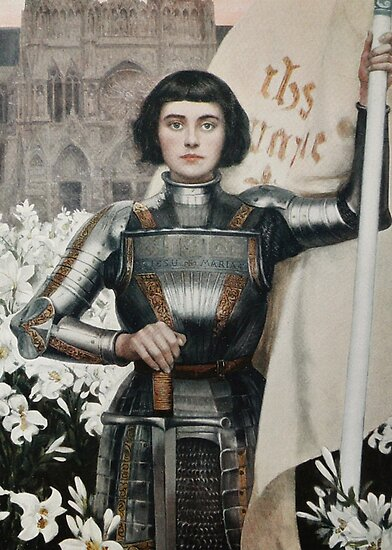 A 1903 engraving of Joan of Arc by TOM HILL - Designer