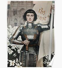 A 1903 engraving of Joan of Arc Poster