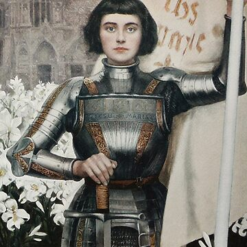 A 1903 engraving of Joan of Arc by TOMSREDBUBBLE