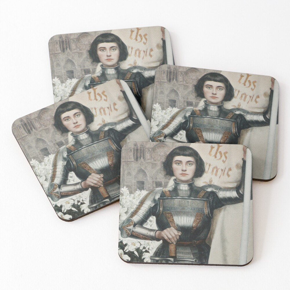 A 1903 engraving of Joan of Arc. Coasters (Set of 4)