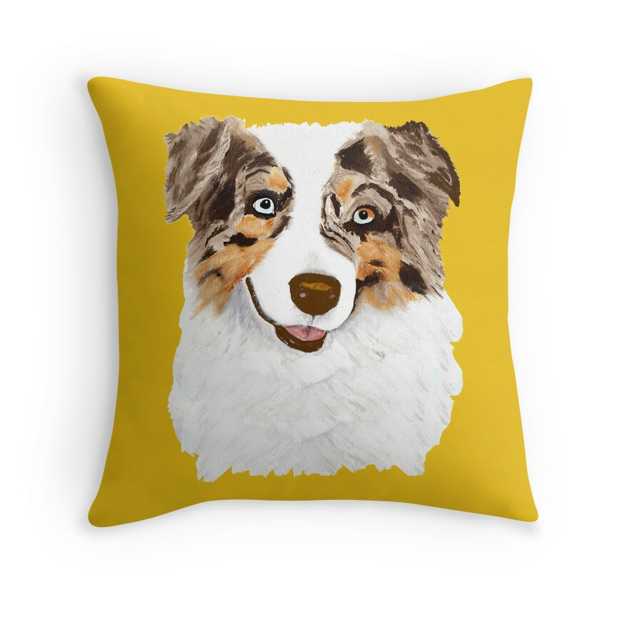 Red Dog Throw Pillows :