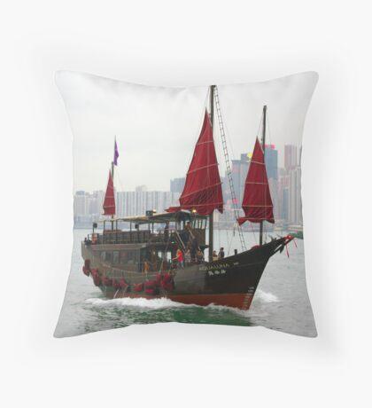 """Aqualuna"" in Hongkong's Victoria Harbor Throw Pillow"