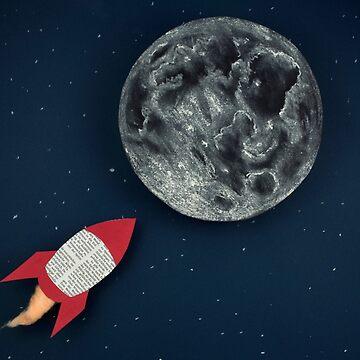 Rocket to the Moon by josemanuelerre