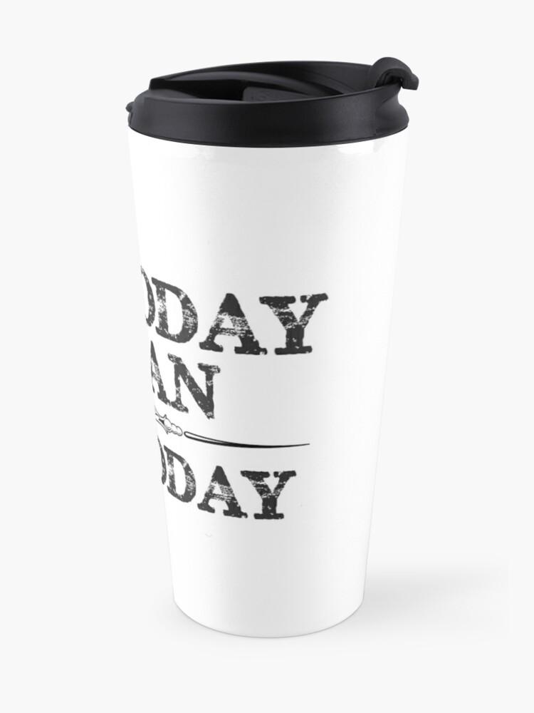 Alternate view of Not Today Satan Not Today Tshirt for Women Men & Kids Travel Mug