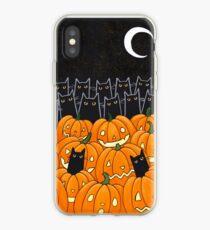 Vinilo o funda para iPhone Gatos negros y Jack-o-Lanterns